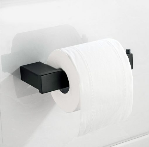Kvalitný oceľový čierny držiak na toaletný papier