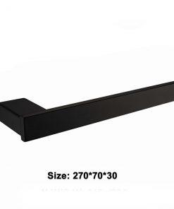 Kvalitný oceľový čierny držiak na uteráky - priamy