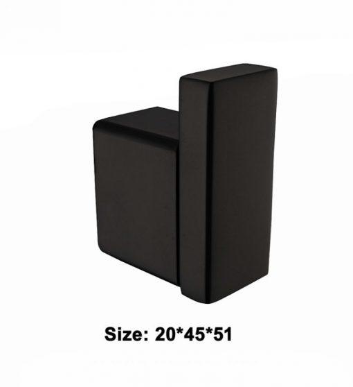 Kvalitný oceľový čierny háčik na stenu na uteráky a doplnky