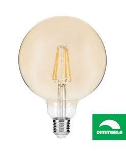 LED Filament žiarovka AVIDE, G95, 8W, E27, 806lm, Stmievateľná (2)