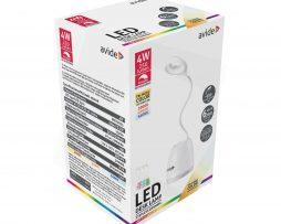 Stolná LED RGB lampa s odkladacím priestorom, 4W, 250lm, biela farba (2)