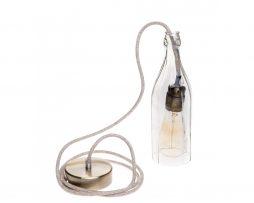 Stropné svietidlo Sklenená Fľaša v staromosádznej kombinácií (1)