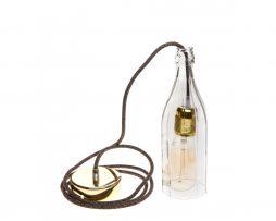 Stropné svietidlo Sklenená Fľaša v zlatej kombinácií (1)