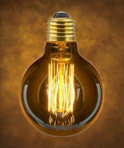 Vintage dekoračná žiarovka v retro štýle, GLOBUS, E27, 40W, 140lm (2)