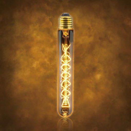 Vintage dekoračná žiarovka v retro štýle, MEDIUM TUBE, E27, 40W, 140lm (2)