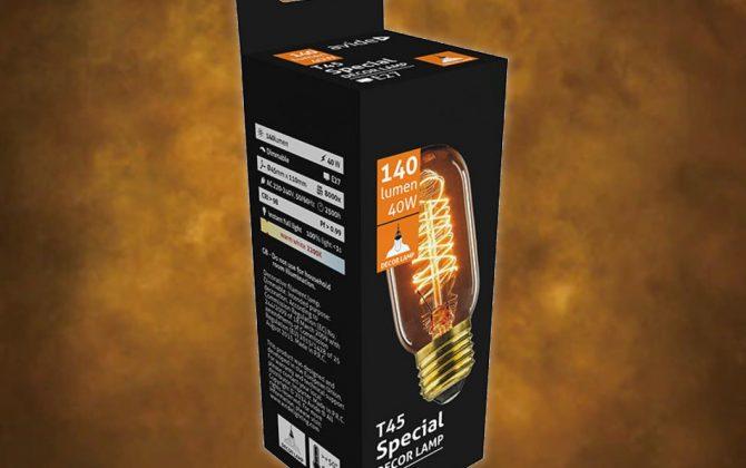 Vintage dekoračná žiarovka. S ručne fúkaným štýlom banky a teplou jantárovou žiarou vyžaruje táto žiarovka šarm ako žiadna iná žiarovka 1 670x420 - Vintage dekoračná žiarovka v retro štýle, SPIRAL TUNNEL, E27, 40W, 140lm