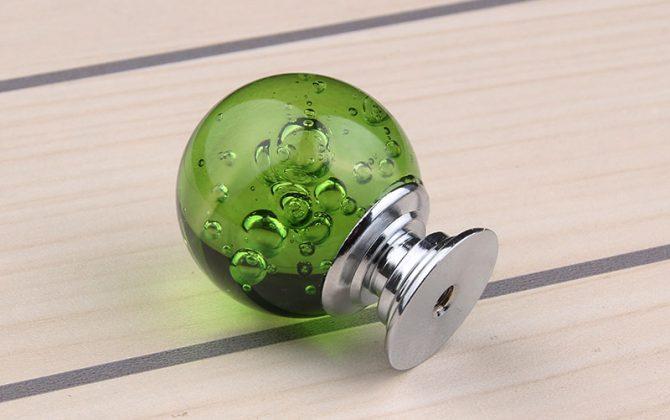 Úchyt na nábytok Bubble Ball GREEN 30mm 2 670x420 - Úchyt na nábytok Bubble Ball, GREEN, 30mm