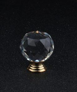 Úchytka na dvierka v tvare DIAMANTU, zlatá, 40mm (2)