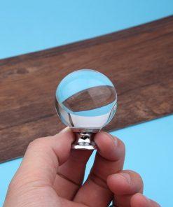 Úchytka na dvierka v tvare GULE, strieborná, 40mm (5)