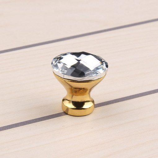 Úchytka na nábytok BUTTON, zlatá farba, 20mm (4)