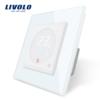 Dotykový digitálny termostat s možnosťou ovládania elektrických vykurovacích okruhov v bielej farbe