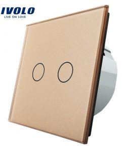 Elegantný dotykový vypínač č.5 v zlatom prevedení