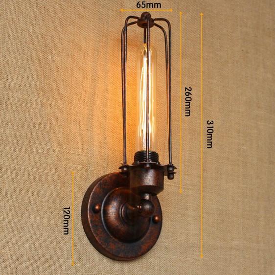 Historické nástenné svietidlo s rovnou klietkou v bronzovej farbe 1 - Historické nástenné svietidlo s rovnou klietkou v bronzovej farbe