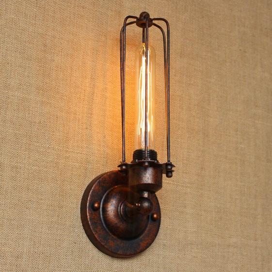 Historické nástenné svietidlo s rovnou klietkou v bronzovej farbe 2 - Historické nástenné svietidlo s rovnou klietkou v bronzovej farbe