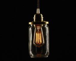 Stropné svietidlo Sklenený pohár HONEY v zlatej farbe (2)