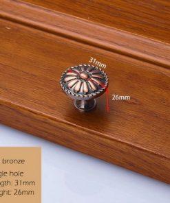 Dekoračná vintageretro kľučka na nábytok - červený bronz, 3126mm