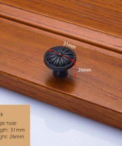 Dekoračná vintageretro kľučka na nábytok - čierna, 3126mm