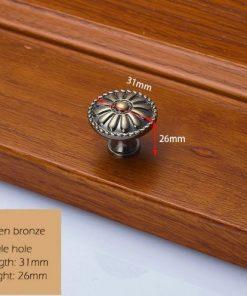 Dekoračná vintageretro kľučka na nábytok - zelený bronz, 3126mm