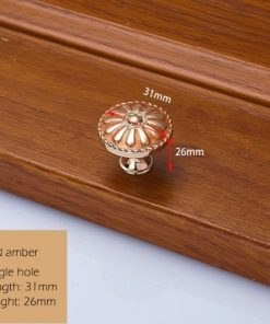 Dekoračná vintageretro kľučka na nábytok - zlato-hnedá, 3126mm