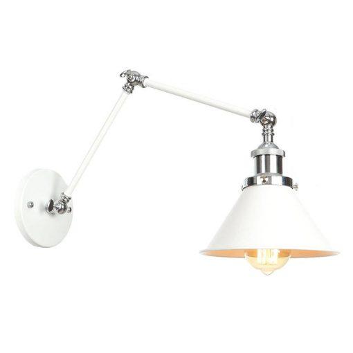 Nástenná historická lampa Provence v bielej farbe