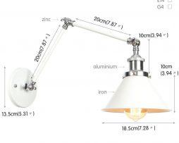 Nástenná historická lampa Provence v bielej farbe (3)
