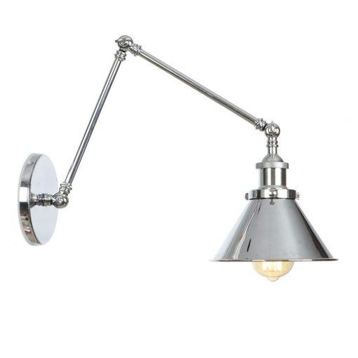 Nástenná historická lampa Provence v striebornej farbe