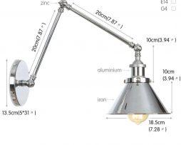 Nástenná historická lampa Provence v striebornej farbe (3)
