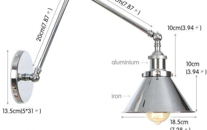 Nástenná historická lampa Provence v striebornej farbe 3 670x420 - Nástenná historická lampa Provence v striebornej farbe