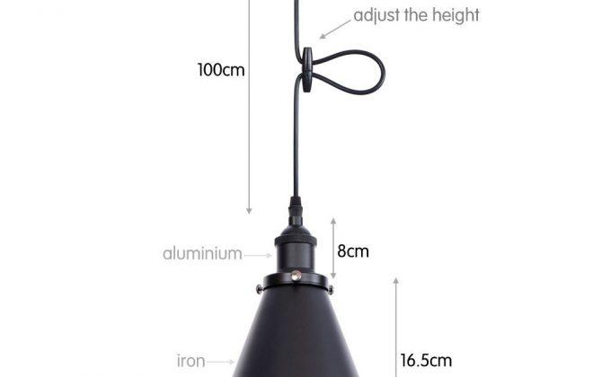 Svietidlo DEEP s nastaviteľnou výškou kábla v čiernej farbe 1 670x420 - Svietidlo DEEP s nastaviteľnou výškou kábla v čiernej farbe