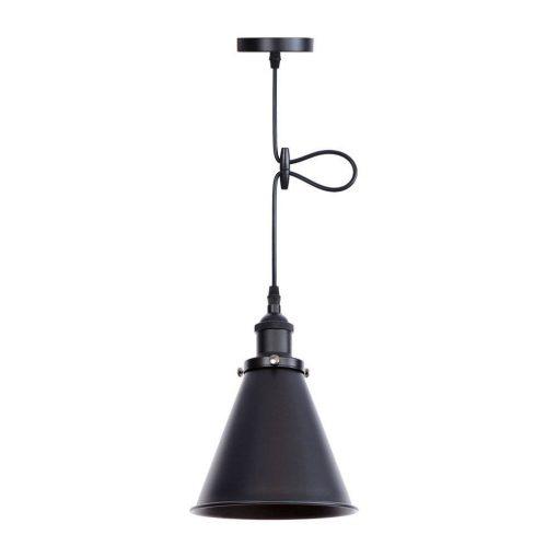 Svietidlo DEEP s nastaviteľnou výškou kábla v čiernej farbe