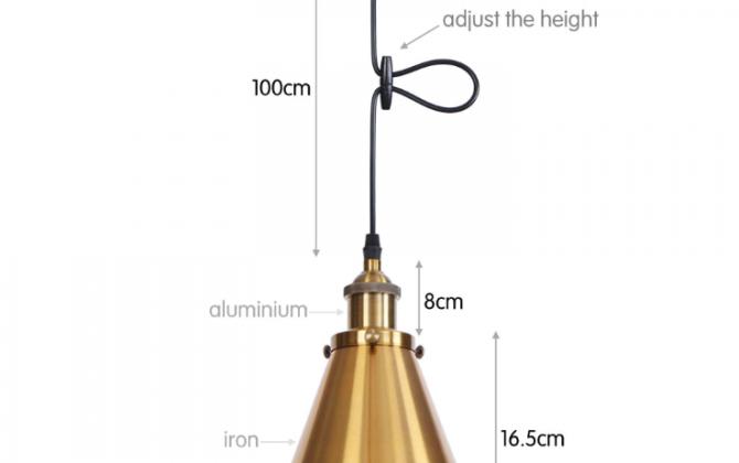 Svietidlo DEEP s nastaviteľnou výškou kábla v zlatej farbe 670x420 - Svietidlo DEEP s nastaviteľnou výškou kábla v zlatej farbe