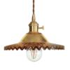 Svietidlo s nastaviteľnou výškou kábla a dekoračným skleneným tienidlom v zlatej farbe