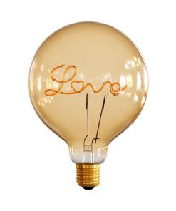 Edison Soft žiarovka pre stolové lampy, Love, E27, 250lm, 5W, Teplá biela, stmievateľná
