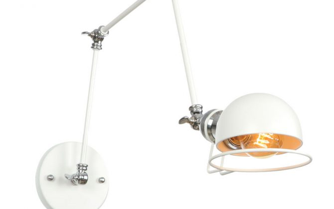 Historická nástenná lampa Magnum v dekoračnom štýle v bielej farbe 670x420 - Historická nástenná lampa Magnum v dekoračnom štýle v bielej farbe