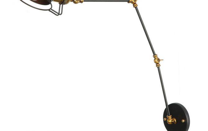 Historická nástenná lampa Magnum v dekoračnom štýle v čierno zlatej farbe  670x420 - Historická nástenná lampa Magnum v dekoračnom štýle v čierno zlatej farbe