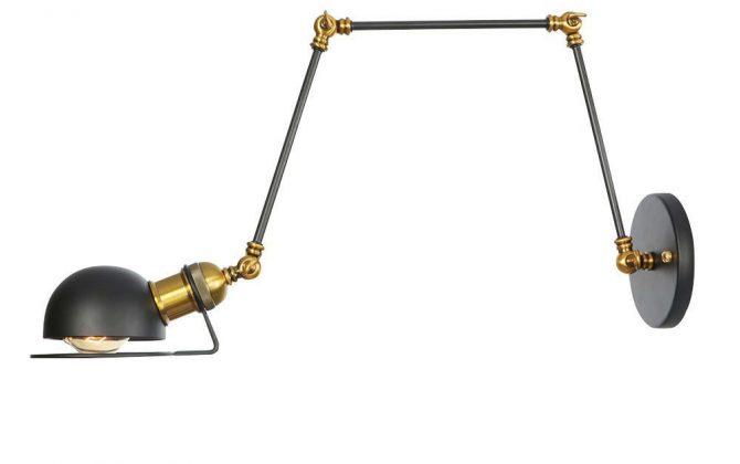 Historická nástenná lampa Magnum v dekoračnom štýle v čierno zlatej farbe.. 670x420 - Historická nástenná lampa Magnum v dekoračnom štýle v čierno zlatej farbe