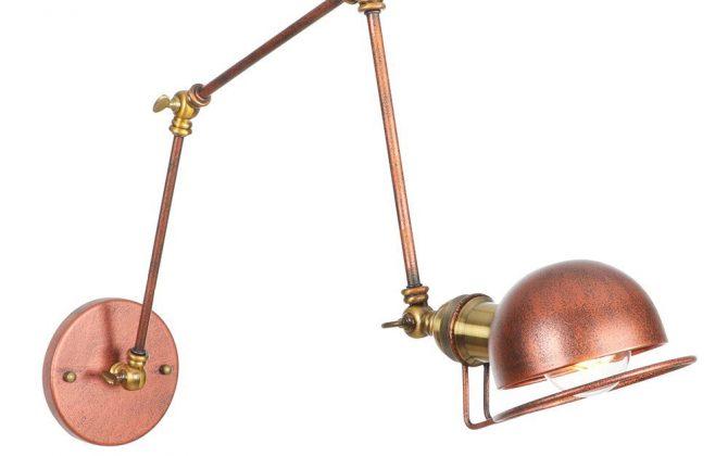 Historická nástenná lampa Magnum v dekoračnom štýle v zlato medenej farbe 670x420 - Historická nástenná lampa Magnum v dekoračnom štýle v zlato medenej farbe