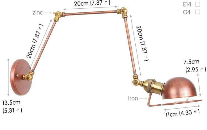 Historická nástenná lampa Magnum v dekoračnom štýle v zlato medenej farbe. 670x420 - Historická nástenná lampa Magnum v dekoračnom štýle v zlato medenej farbe