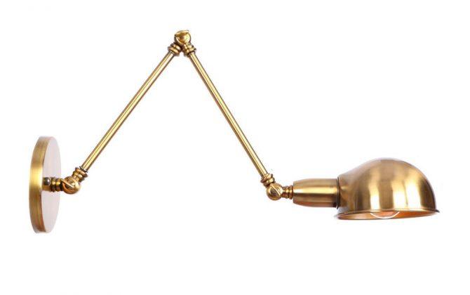 Historické nástenné svietidlo Bedside s nastaviteľným ramenom v zlatej farbe 670x420 - Historické nástenné svietidlo Bedside s nastaviteľným ramenom v zlatej farbe