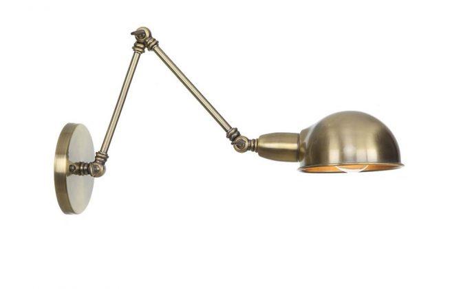 Historické nástenné svietidlo Bedside15 s nastaviteľným ramenom v staromosádznej farbe 670x420 - Historické nástenné svietidlo Bedside15 s nastaviteľným ramenom v staromosádznej farbe