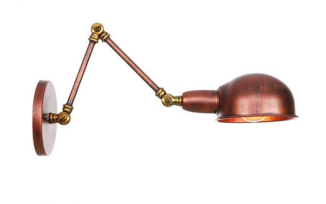 Historické nástenné svietidlo Bedside15 s nastaviteľným ramenom v zlato medenej farbe 670x420 - Historické nástenné svietidlo Bedside15 s nastaviteľným ramenom v zlato medenej farbe