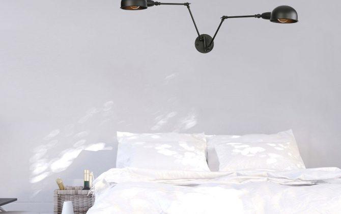 Historické nástenné svietidlo Tweenside s dvomi nastaviteľnými ramenami v čiernej farbe 1 1 670x420 - Historické nástenné svietidlo Tweenside s dvomi nastaviteľnými ramenami v čiernej farbe
