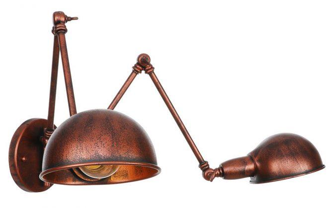 Historické nástenné svietidlo Tweenside s dvomi nastaviteľnými ramenami v staro medenej farbe  670x420 - Historické nástenné svietidlo Tweenside s dvomi nastaviteľnými ramenami v staro medenej farbe