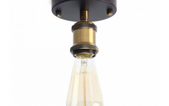Historické stropné svietidlo Simple s predĺžením v retro dizajne