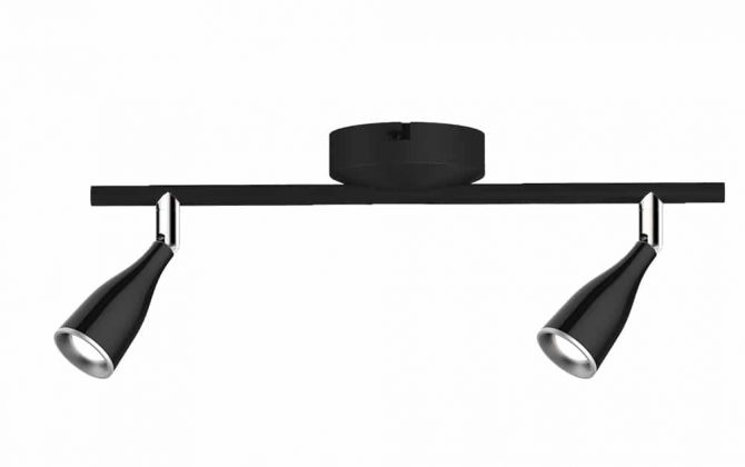 Luxusné 9W LED nástenné svietidlo BLACK WALL, denná biela