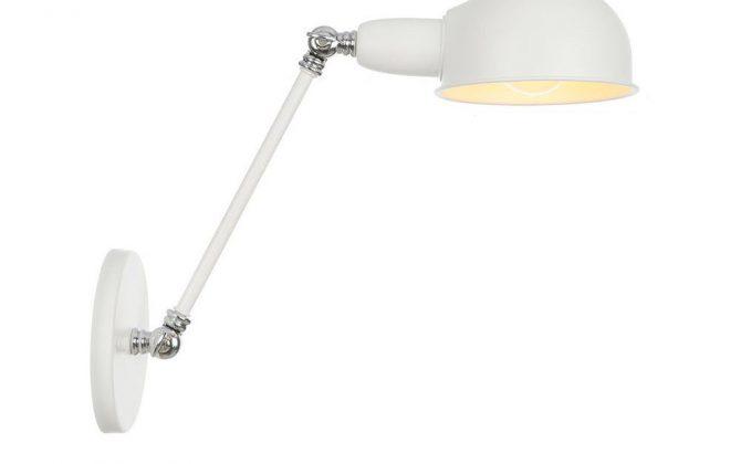 Retro nástenná lampa Side20 v bielej farbe.
