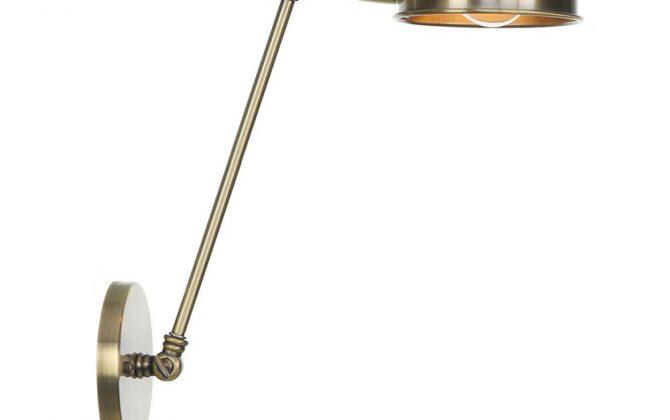 Retro nástenná lampa Side30 v staromosádznej farbe 670x420 - Retro nástenná lampa Side30 v staromosádznej farbe