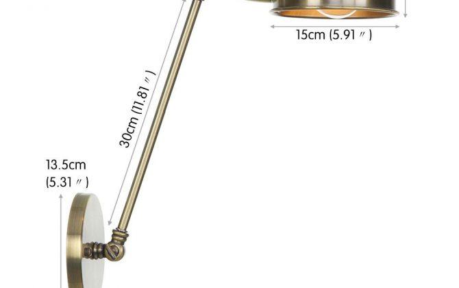 Retro nástenná lampa Side30 v staromosádznej farbe. 670x420 - Retro nástenná lampa Side30 v staromosádznej farbe