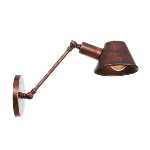Retro nástenná lampa Tedy20 v staro medenej farbe