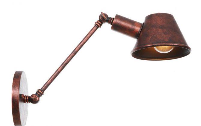 Retro nástenná lampa Tedy30 v staro medenej farbe. 670x420 - Retro nástenná lampa Tedy30 v staro medenej farbe